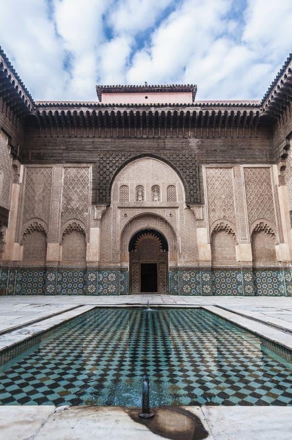 Ben Yussef Medersa à Marrakech, Maroc image stock