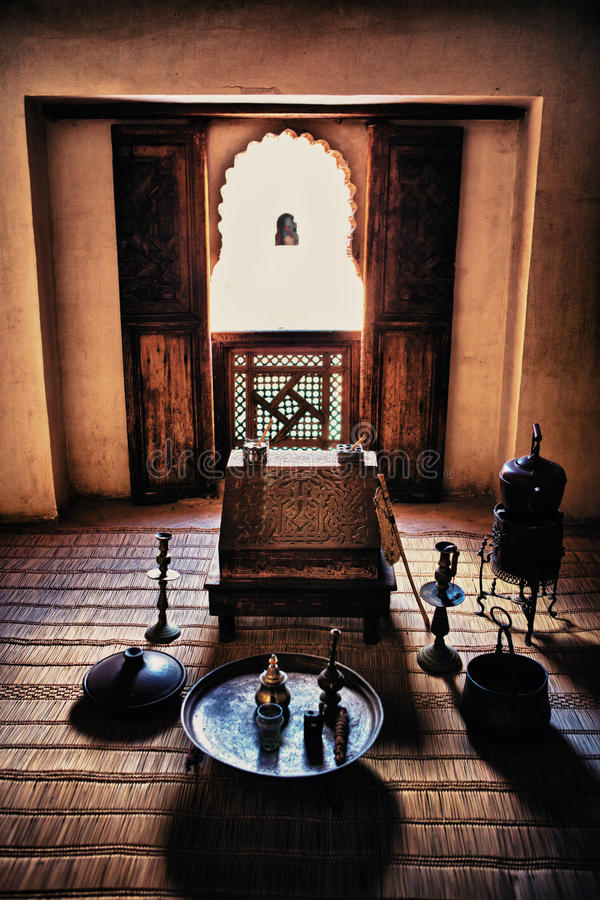 Ben Yussef Medersa studierum royaltyfri fotografi