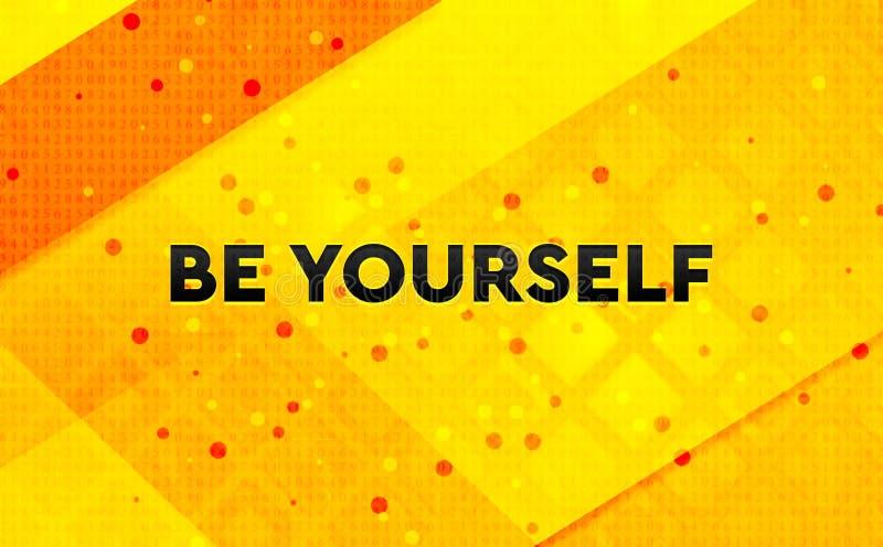 Ben zelf abstracte digitale banner gele achtergrond vector illustratie