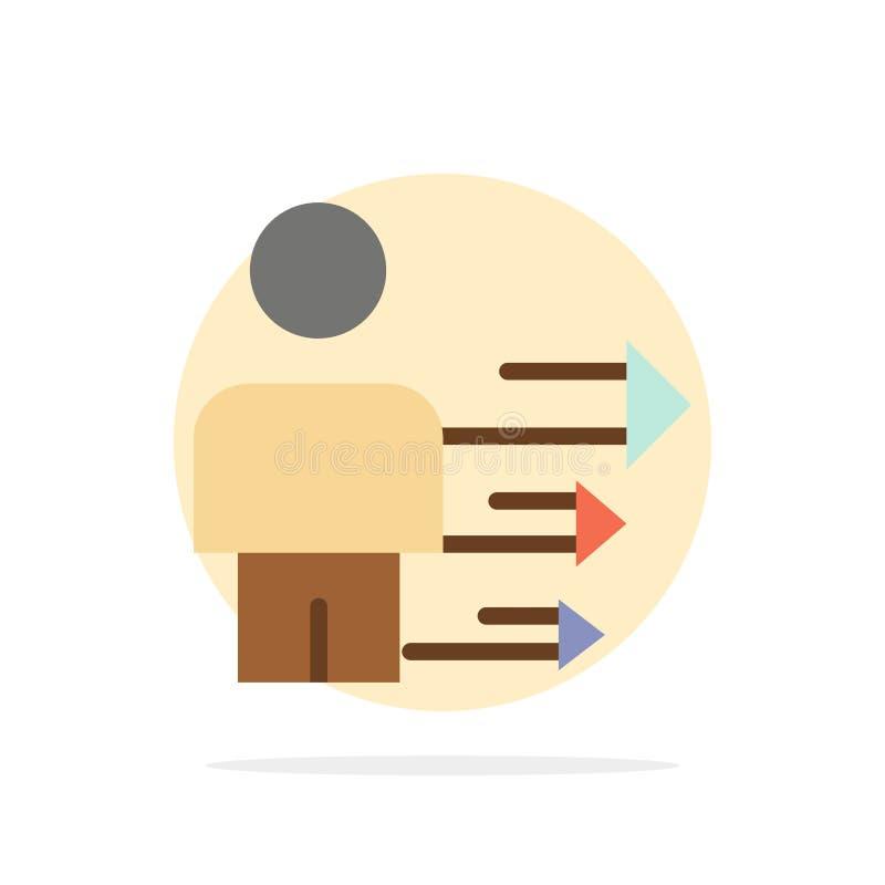 Benadering, Zaken, Leiding, Modern Abstract Cirkel Achtergrond Vlak kleurenpictogram stock illustratie