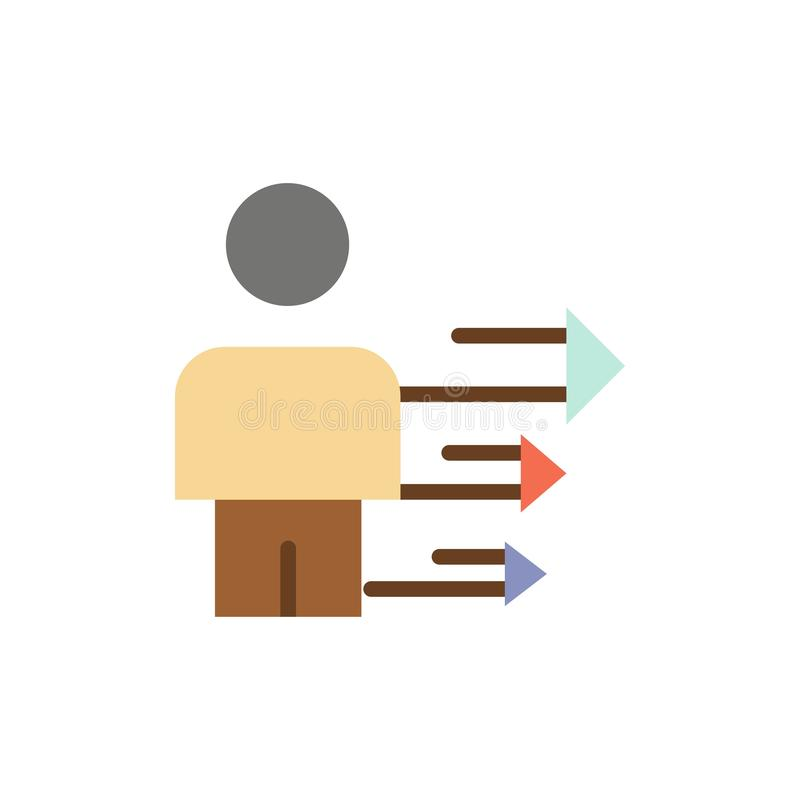 Benadering, Zaken, Leiding, Modern Vlak Kleurenpictogram Het vectormalplaatje van de pictogrambanner royalty-vrije illustratie