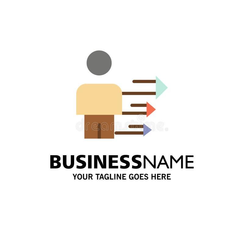 Benadering, Zaken, Leiding, Moderne Zaken Logo Template vlakke kleur royalty-vrije illustratie