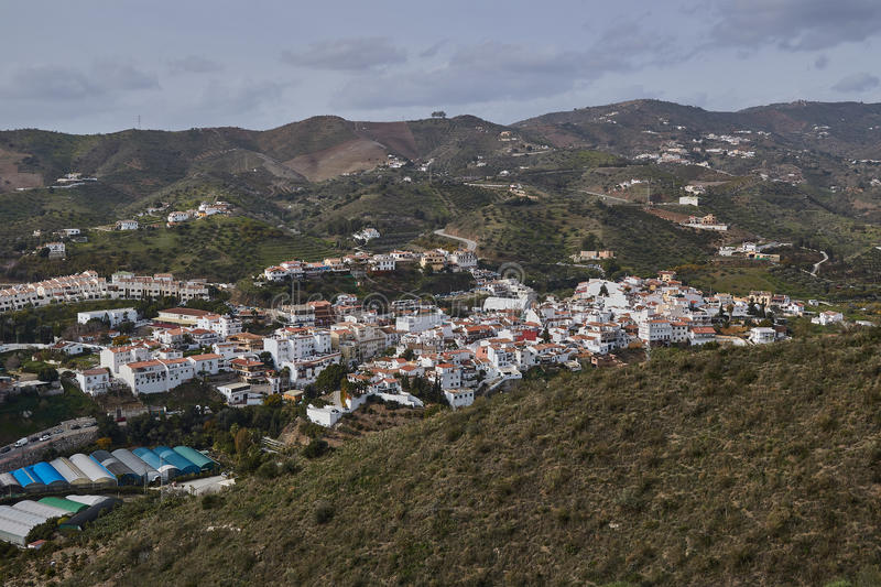 Benagalbon village in Malaga, Spain. Benagalbon is a town and municipality in the province of Málaga, part of the autonomous community of Andalusia in royalty free stock image