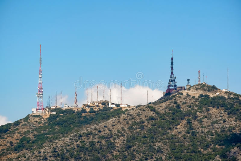 BENALMADENA, ANDALUCIA/SPAIN - 7月7日:从登上Calamorr的看法 免版税库存图片