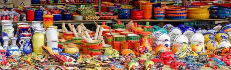 BENALMADENA, ANDALUCIA/SPAIN - 9 DE MAIO: Tenda do mercado em Benalmade fotos de stock royalty free