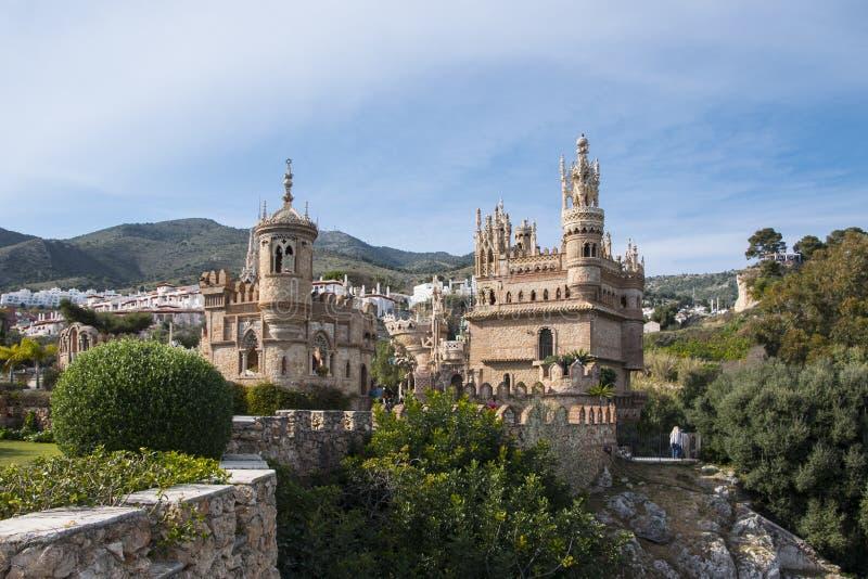 Benalmadena, Andalusien, Spanien - 4. März 2019: Teil von Castillo de Colomares Es ist eine Art Märchenschloss, eingeweiht  lizenzfreie stockfotos