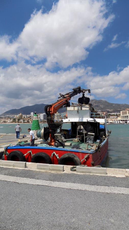 Benalmadena-Puerto小游艇船坞安大路西亚西班牙 免版税库存图片