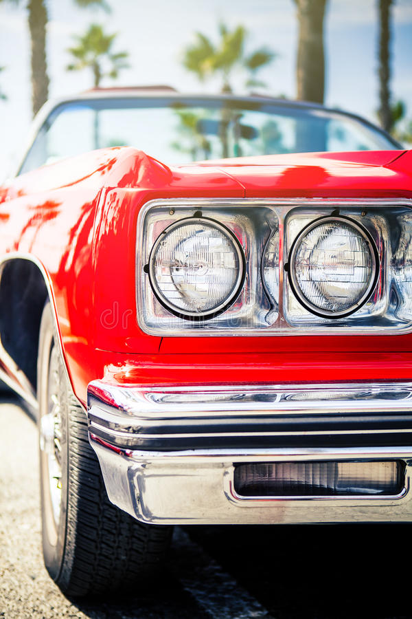 Benalmadena, Spain - June 21, 2015: Front view of classic Chevrolet. royalty free stock photography