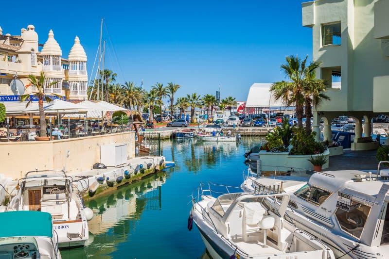 BENALMADENA, SPAIN - MAY 5,2013: view of Puerto Marina in Benalmadena,Costa del Sol Malaga, Spain. This marina has berths for royalty free stock image