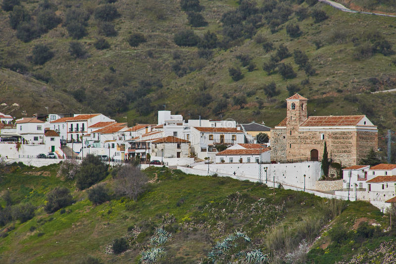Benaque village in Malaga, Spain. Benaque is a town and municipality in the province of Málaga, part of the autonomous community of Andalusia in southern royalty free stock photos