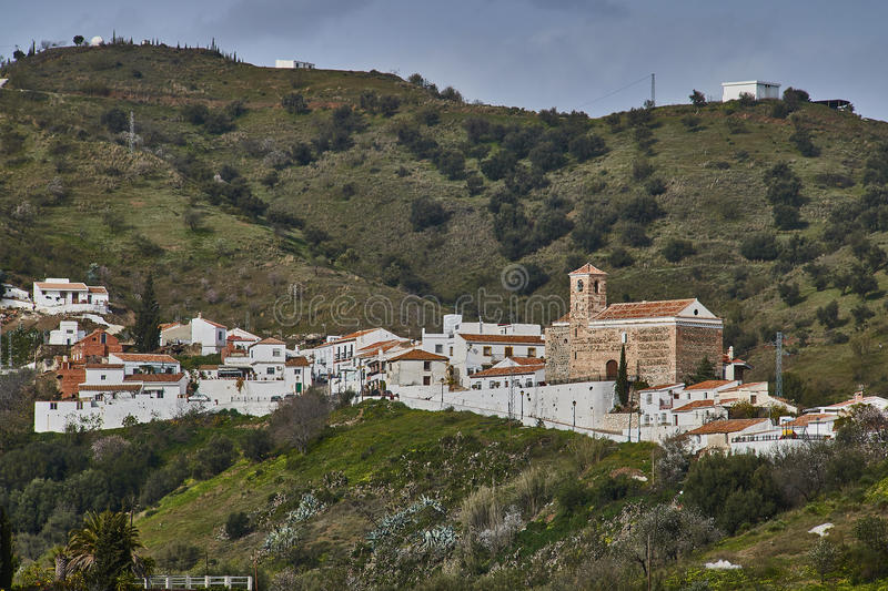 Benaque village in Malaga, Spain. Benaque is a town and municipality in the province of Málaga, part of the autonomous community of Andalusia in southern royalty free stock photo