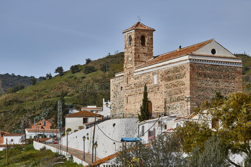 Benaque village in Malaga, Spain. Benaque is a town and municipality in the province of Málaga, part of the autonomous community of Andalusia in southern stock photo