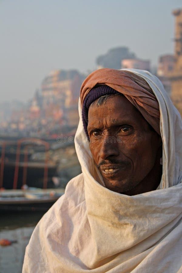 Benaras in India stock afbeeldingen