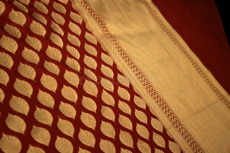 benares νυφικό μετάξι saree στοκ φωτογραφία με δικαίωμα ελεύθερης χρήσης