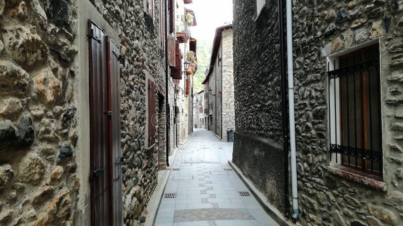 Benasque-Straße lizenzfreie stockfotos