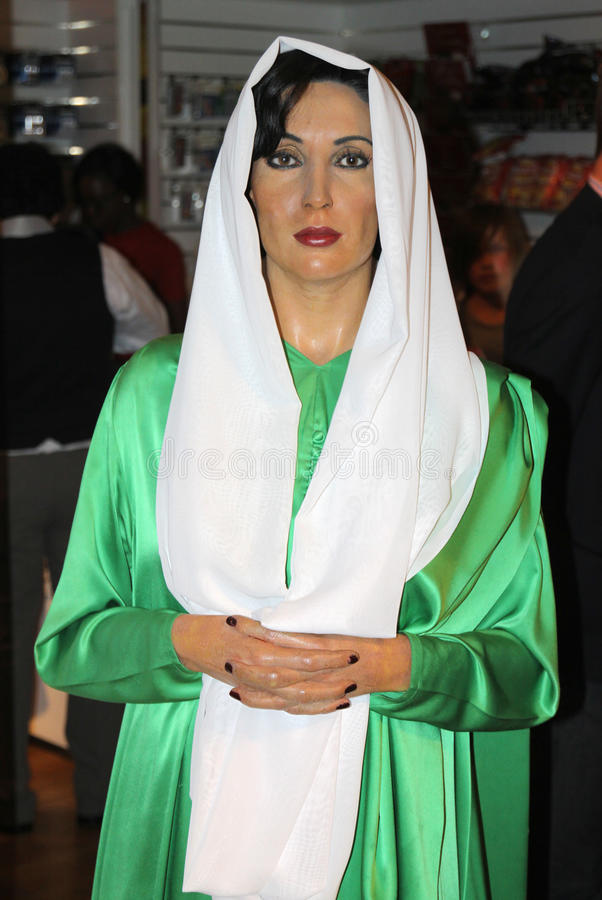Benazir Bhutto at Madame Tussaud's royalty free stock images
