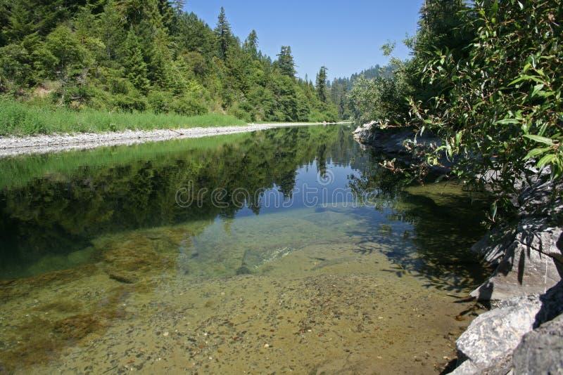benbow加利福尼亚鳗鱼河 免版税图库摄影