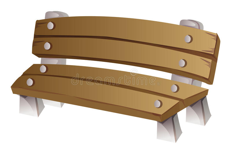 Download Bench stock vector. Image of cartoon, brown, bench, rest - 21772599