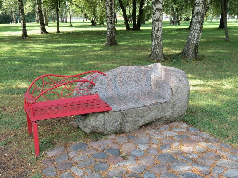 Download Bench stock image. Image of pavement, metallic, tree - 26118373
