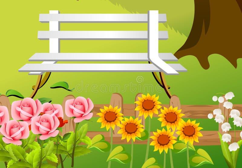 Download Bench stock illustration. Image of white, illustration - 26544630