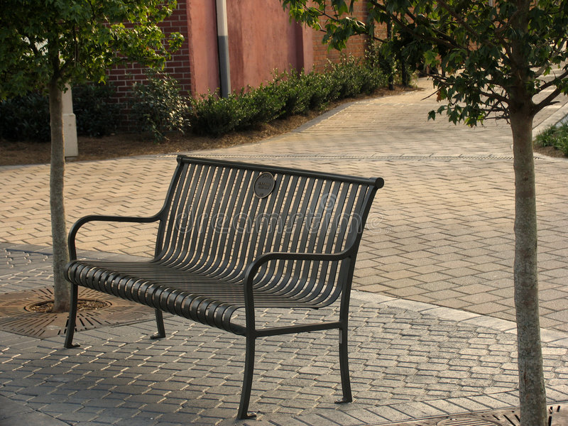 Download Bench In The City Stock Image - Image: 21521