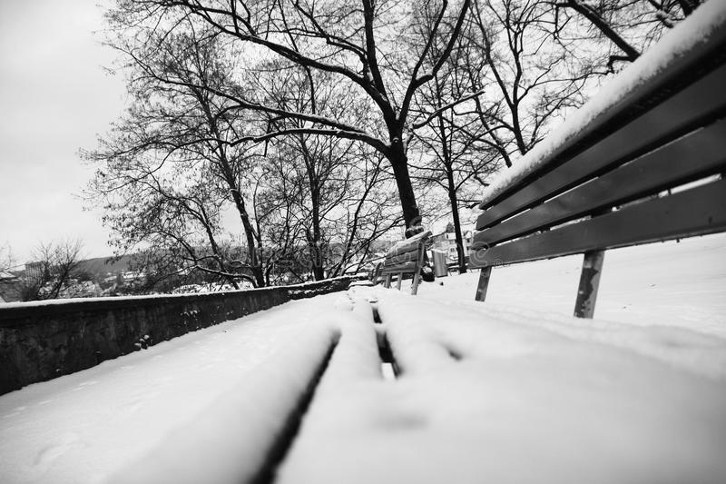 Download Bench Covered In Snow Royalty Free Stock Images - Image: 12890899