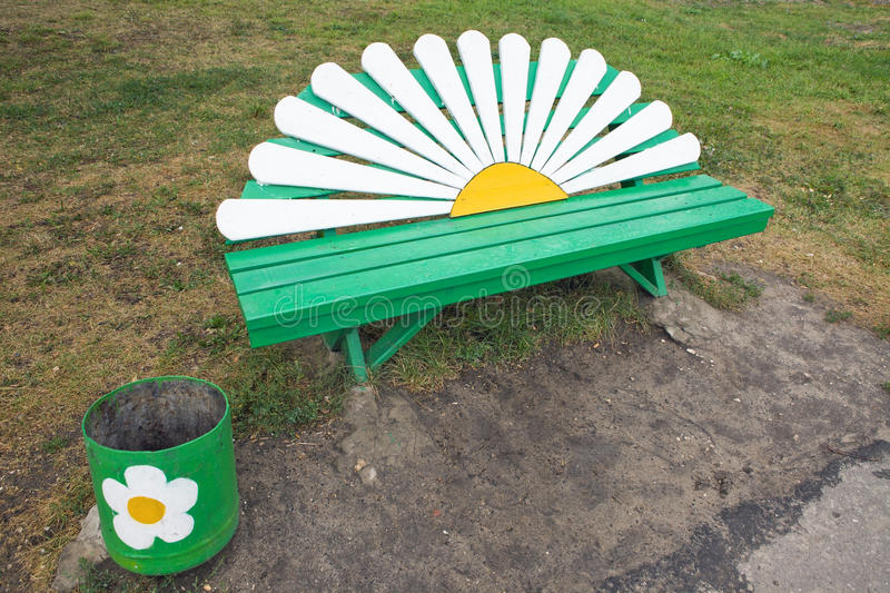 Bench - Daisy stock photo