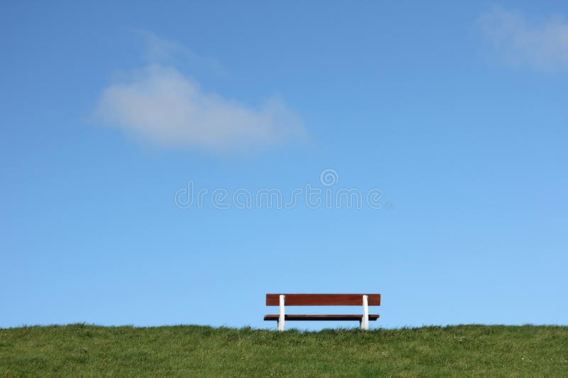 Bench On A Stock Image