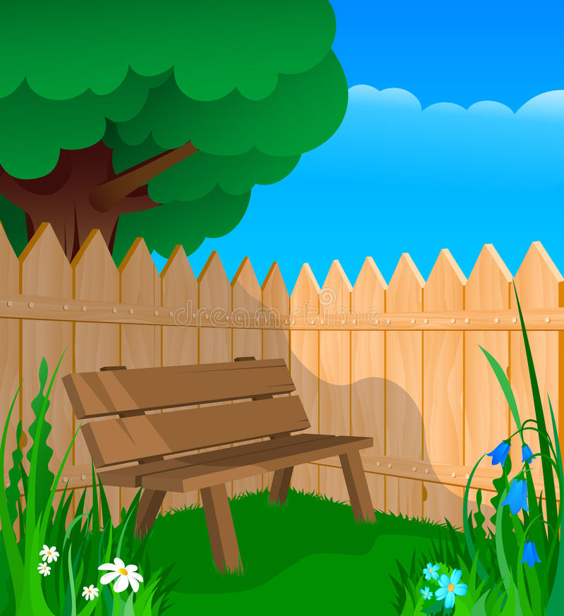 Download Bench, Fence And Flowers Royalty Free Stock Images - Image: 20450189