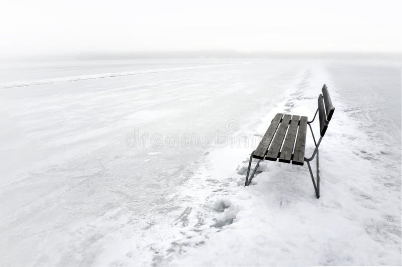 Download Bench on frozen lake stock photo. Image of nobody, lake - 29050150