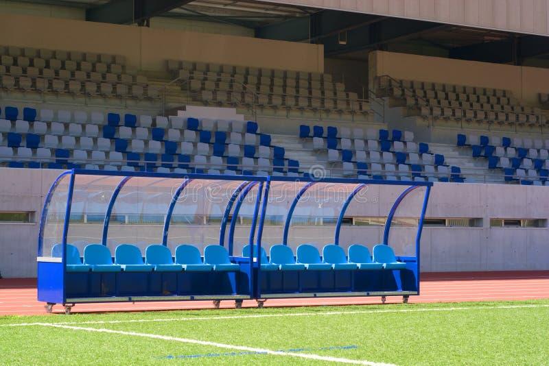 Bench Fußball stockfotos
