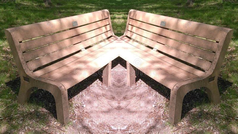 Bench fusion stock photo