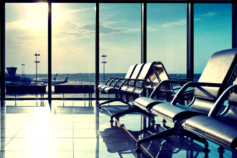 Download Bench In The Hall Of Moscow Airport Stock Photo - Image of blue, abstract: 25171786