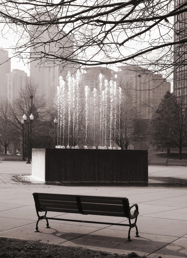 Free Bench In The Park Stock Photography - 17827142
