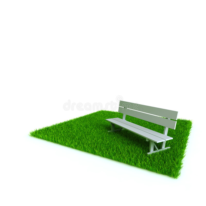 Download Bench on a lawn stock illustration. Image of grass, element - 9296405