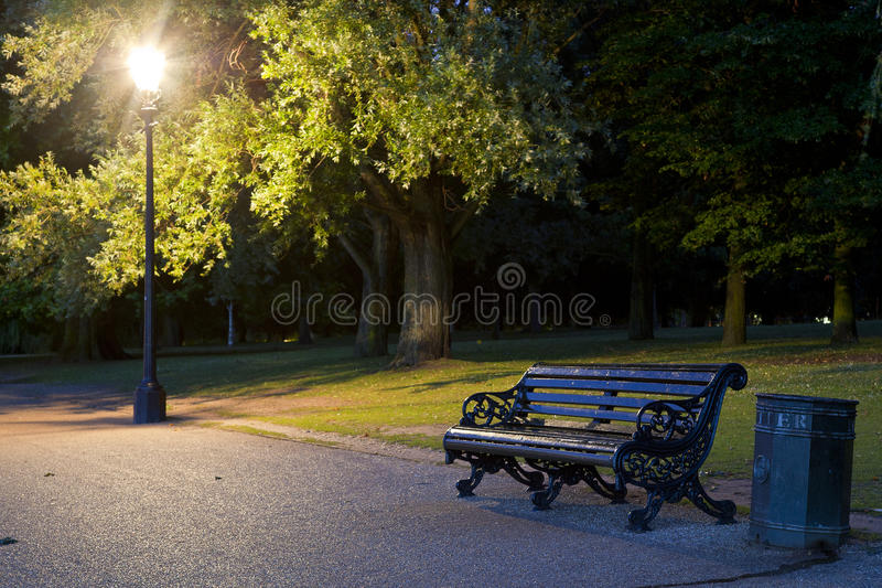 Download Bench in the park stock image. Image of green, trail - 20772185