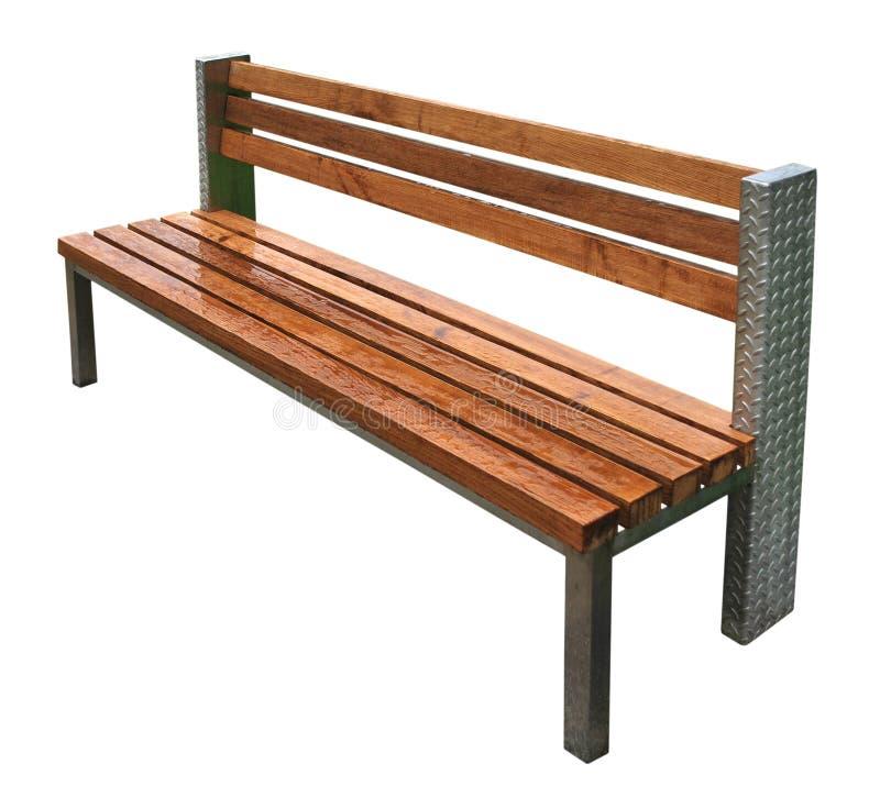 bench park rain 库存照片