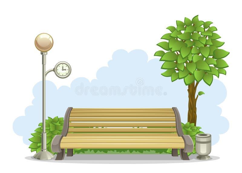 Download Bench in park stock vector. Illustration of image, flashlight - 32053176