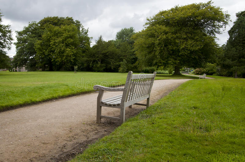 Download Bench path stock image. Image of path, tree, landscape - 26270017
