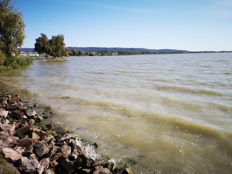 Balaton lake, Hungary. stock images