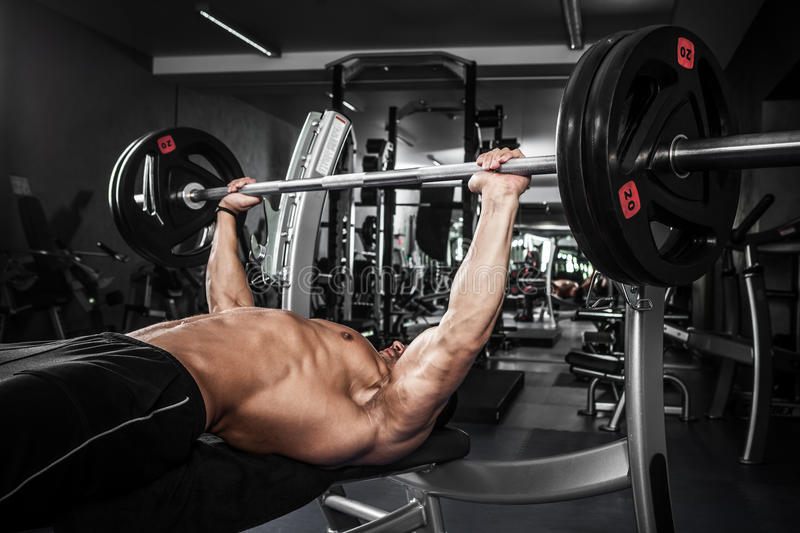 Bench press stock images