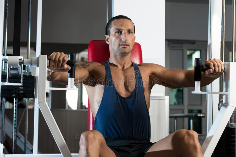 Bench Press Exercise Machine stock images