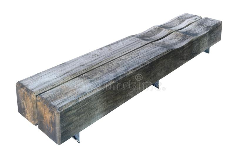The bench of the public park is made of thick aged rectangular stock photos
