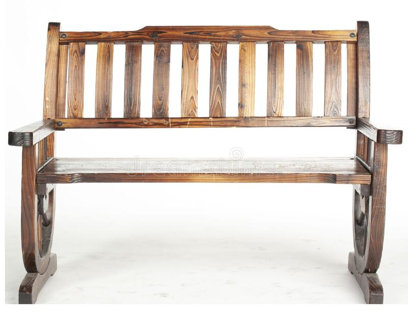 Bench for sitting stock photos