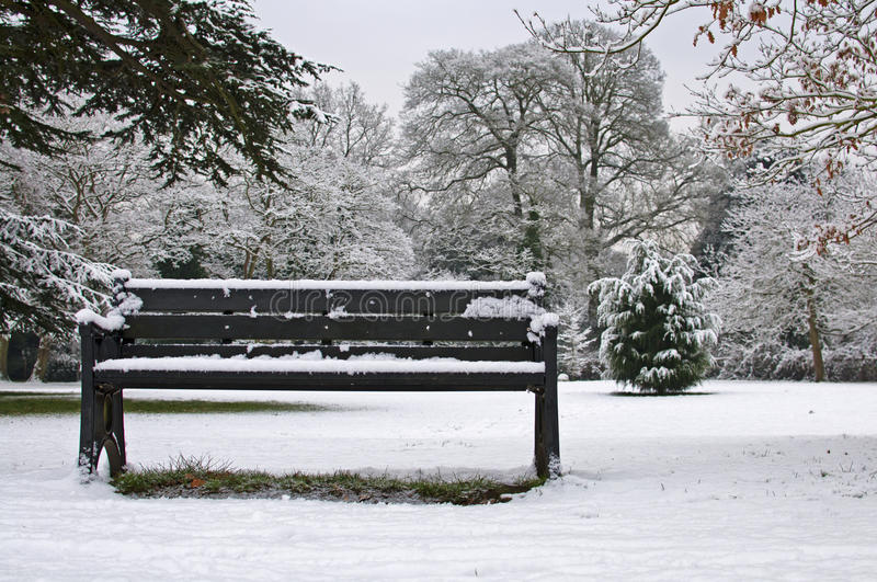 Bench in the Snow royalty free stock photos