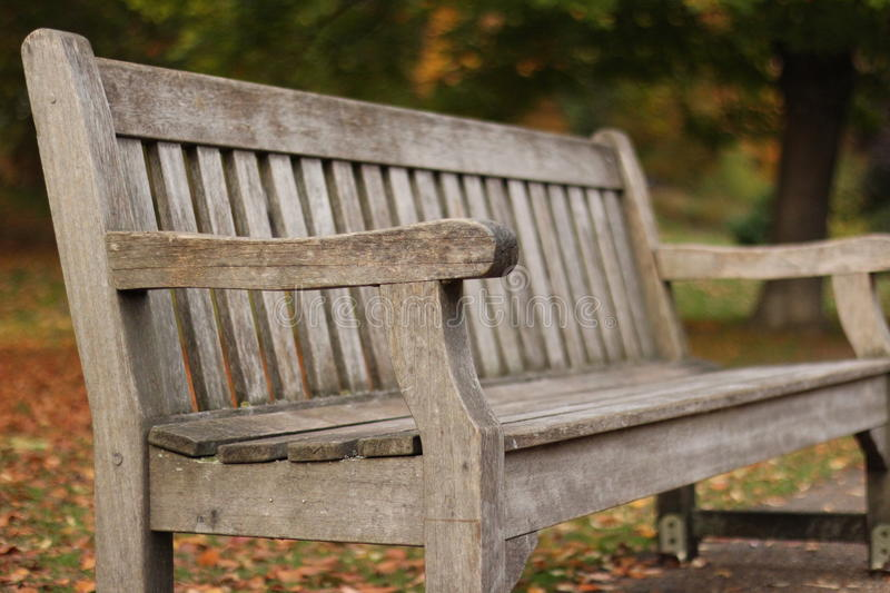 Bench in ST James Park. London royalty free stock image