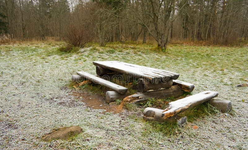 Download Bench And Table Royalty Free Stock Images - Image: 7622269