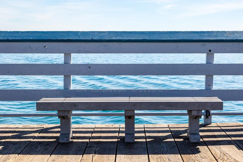 A Bench with a View stock photography