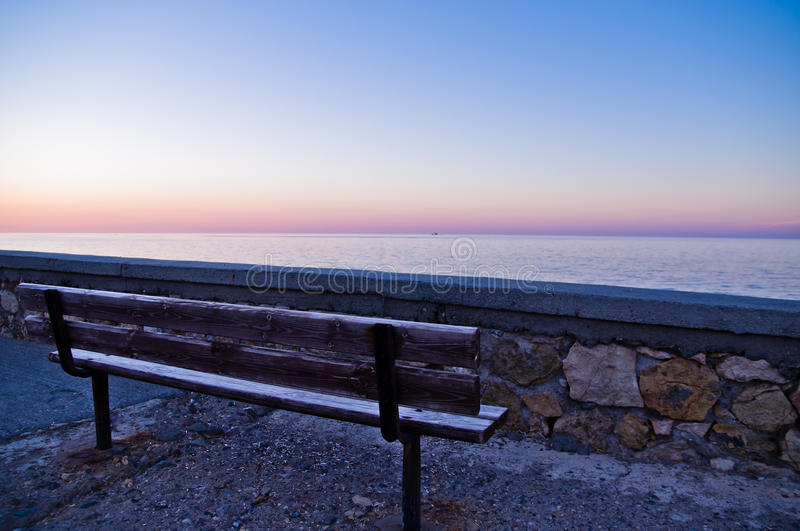 Download Bench With A View To The Open Sea Stock Photo - Image: 26119680