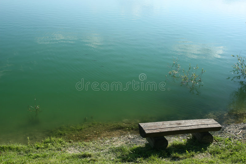 Download Bench by the water stock photo. Image of bench, wooden - 2057480